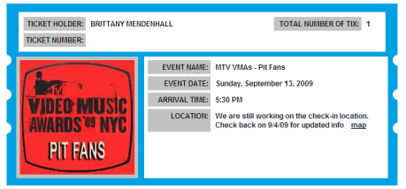 vma ticket