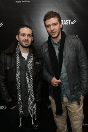 Justin Timeberlake and Trace Ayala at William Rast After-Party At Hudson Terrace