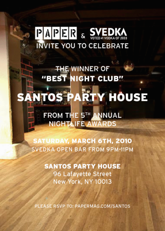 Svedka and Paper At Santos Party House